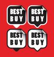 Best buy stickers vector image vector image