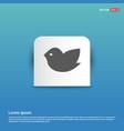 bird icon - blue sticker button vector image