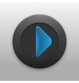 Black Button with the play icon for your project vector image