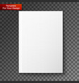 blank magazine isolated vector image vector image