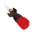 boxing glove rocket sport air bomb fighting vector image vector image