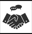 business people handshake in grey colors vector image vector image
