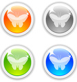 Butterfly buttons vector image vector image