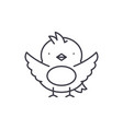 chick line icon concept chick linear vector image vector image
