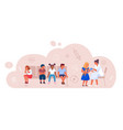 children vaccination and immunization for immunity vector image