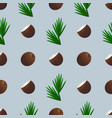 coconut seamless pattern vector image vector image