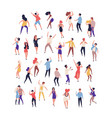 collection tiny people dancing on dance floor vector image