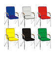 Color metal chair