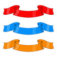 colored ribbon banners vector image