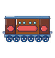 compartment carriage icon cartoon style vector image vector image