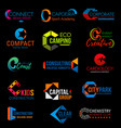 corporate identity c colorful business icons vector image vector image