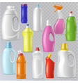 detergent bottle plastic blank container vector image