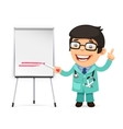 Doctor With Marker in Front of the Flipchart vector image vector image
