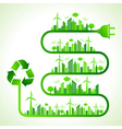 ecology concept with recycle icon vector image