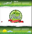 ecology nature green background vector image vector image