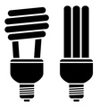 fluorescent compact bulbs vector image vector image