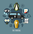 funeral concept set vector image vector image