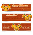 greeting halloween party horizontal banners vector image vector image