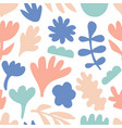 hand drawn floral seamless repeat pattern vector image