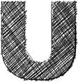 Hand drawn font vector image vector image