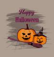 happy halloween backdrop vector image vector image