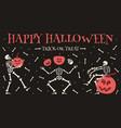 happy halloween party poster spooky halloween vector image