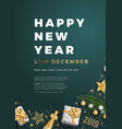 happy new year party layout poster poster or flyer vector image