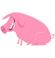 happy pig animal character cartoon vector image