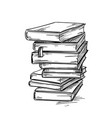heap of books drawig vector image