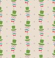 Hipster Seamless Texture Pattern with Vintage vector image vector image