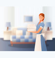 hotel staff gradient composition vector image