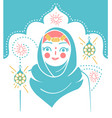 icon muslim woman holiday vector image vector image