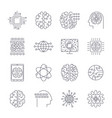 icons in contour thin and linear design vector image vector image
