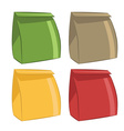Icons paper bags for food vector image