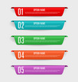 infographic templates with color labels steps an vector image