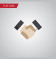 isolated handshake flat icon partnership vector image