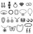 Jewelry Accessories and Gemstone Icons Set vector image vector image