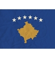 Kosovo paper flag vector image vector image