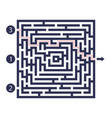 labyrinth game three entrance one exit and one vector image vector image