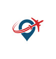 logo travel airplane template vector image