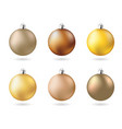 matt color yellow gold new years party balls set vector image