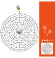 maze puzzle game for st valentine day vector image vector image