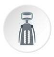 metal corkscrew icon circle vector image vector image