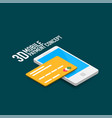 mobile internet payment concept with smart vector image