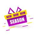 new season label purple gift box modern vector image vector image