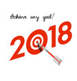 new year 2018 business concept vector image