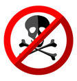 no skull sign on white background vector image vector image
