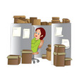 office clerk vector image vector image