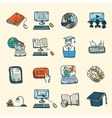 Online Education Icons Sketch vector image vector image