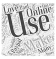online payments Word Cloud Concept vector image vector image